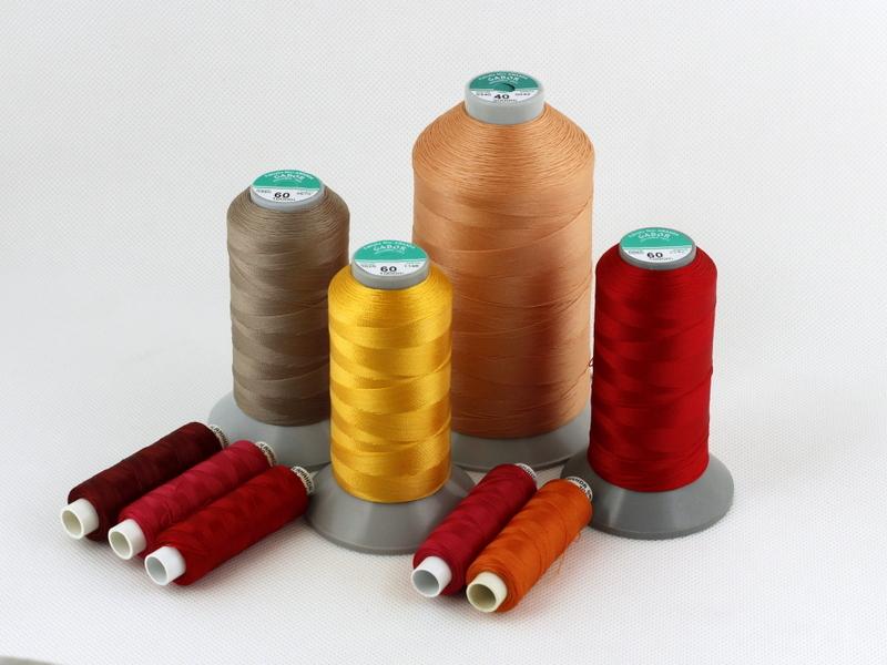 Dank der Anwendung der neuen Art von Polyamidseide wurde ein Nähfaden von hoher Qualität für technisches Gewebe erzeugt.